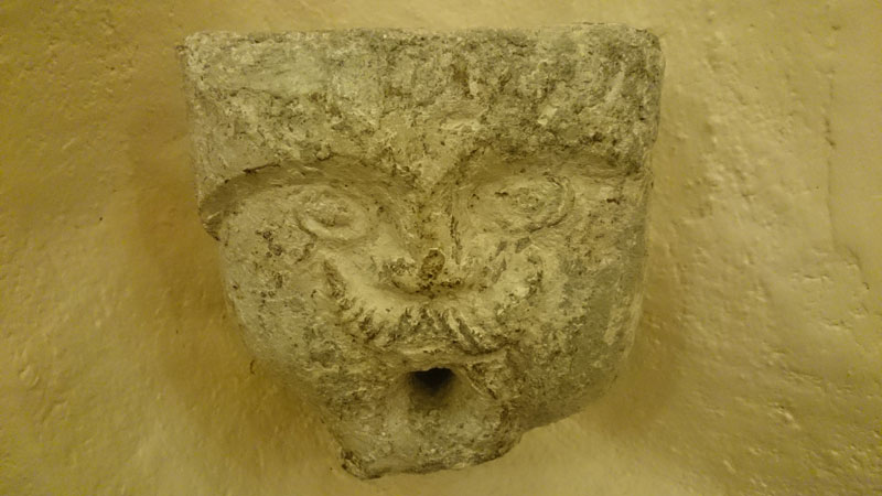 700 years old Water Spout  (West Wing, Common Kitchen)